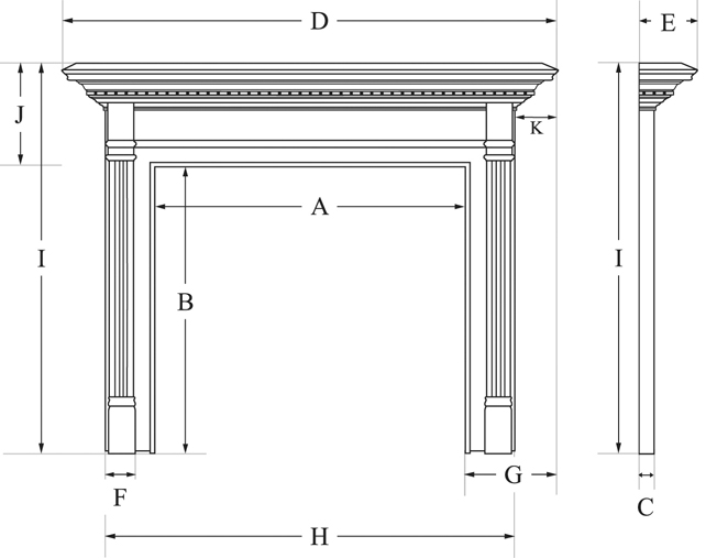 Mount Vernon Mantels Measuring Your Fireplace For A Mantel